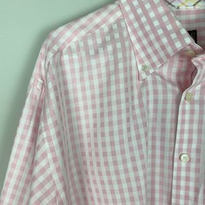 Ike Behar Pink Checked Button Down Shirt